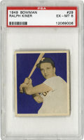 Baseball Cards:Singles (1940-1949), 1949 Bowman Ralph Kiner #29 PSA EX-MT 6. With home run percentagenumbers that are rivaled by only McGwire and Ruth among r...