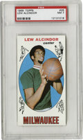 Basketball Cards:Singles (Pre-1970), 1969 Topps Lew Alcindor #25 PSA NM 7. Marquee card from theoversized '69-70 Topps set is the only recognized rookie card f...