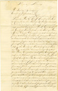 Autographs:Military Figures, Kentuckian Rents Part of the Land of Fort Griffin, Texas, to the United States....