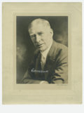 "Autographs:Photos, Connie Mack Signed Photograph. Large 11x14"" mounted studio portraitis signed by Mack in 9/10 white ink. Mount shows some e..."