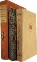 Books:Non-fiction, Three Book Lot on Texas and the Mexican War, Including One BookSigned by J. Frank Dobie:... (Total: 3 Items)