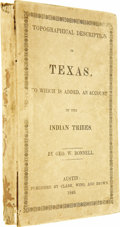 Books:Non-fiction, George William Bonnell: Topographical Description of Texas,...