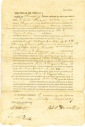 "Autographs:Statesmen, William Fairfax Gray Endorsement Signed ""W. F. Gray Noty. Pub.""..."