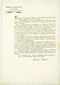 Autographs:Non-American, Mexican Decree Declaring Texas Land Law Invalid Signed,...