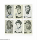 "Autographs:Others, 1960's-70's Atlanta Braves Signed Exhibit Cards Lot of 19. Mixtureof 4x6"" photographic images is signed in perfect ink and..."