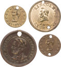 Political:Tokens & Medals, Abraham Lincoln: Four Scarce Diminutive Campaign Tokens.... (Total: 4 Items)
