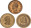 Political:Tokens & Medals, Abraham Lincoln: Three 1864 Campaign/Patriotic Tokens.... (Total: 3 Items)