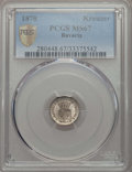 German States:Bavaria, German States: Bavaria. Ludwig II Kreuzer 1870 MS67 PCGS,...