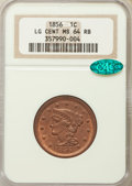 1856 1C Slanted 5 MS64 Red and Brown NGC. CAC. NGC Census: (0/0). PCGS Population (59/10). CDN Wsl. Price for problem fr...