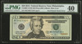 Error Notes:Major Errors, Fr. 2097-C $20 2013 Federal Reserve Note. PMG Extremely Fine 40.....