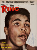 Boxing Collectibles:Autographs, 1964 Cassius Clay (Muhammad Ali) Signed The Ring Magazine with Incredible Inscription & Original Photograph....