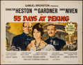 "Movie Posters:Adventure, 55 Days at Peking (Allied Artists, 1963). Half Sheet (22"" X 28"").Adventure.. ..."