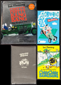 Chitty Chitty Bang Bang Lot (Puffin, 2008). Autographed British Hardcover Book, U.S. Hardcover Book, & British Paper...