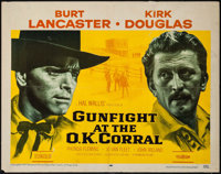 "Gunfight at the O.K. Corral (Paramount, 1957). Half Sheet (22"" X 28"") Portrait Style. Western"