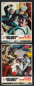 "Movie Posters:James Bond, The Spy Who Loved Me Jigsaw Puzzles (HG Toys, 1977). 150 PieceJigsaw Puzzles (8"" X 10.5"" X 1.5"") No. 491-01 ""Bond vs. Jaws""...(Total: 2 Items)"