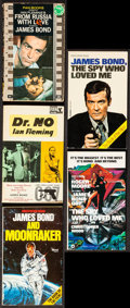 "Movie Posters:James Bond, Dr. No by Ian Fleming & Others Lot (Various, 1950s-1970s). Movie Edition Paperback Books (5) (Multiple Pages, 4.5"" X 7""). Ja... (Total: 5 Items)"