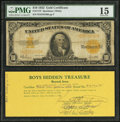 Large Size:Gold Certificates, Fr. 1173 $10 1922 Gold Certificate PMG Choice Fine 15.. ...