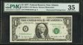 Error Notes:Obstruction Errors, Fr. 1909-F $1 1977 Federal Reserve Note. PMG Choice Very Fine 35.. ...