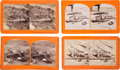 Photography:Stereo Cards, War for the Union Stereo Views: Petersburg and Spotsylvania Casualties.... (Total: 4 Items)