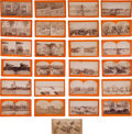 Photography:Stereo Cards, Taylor & Huntington Stereo View Collection with Bonus. ... (Total: 25 Items)