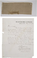 Military & Patriotic:Civil War, Piece of the Last Flag Flown Over the Confederate Capital inRichmond.... (Total: 2 Items)