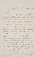 Autographs:Statesmen, [Abraham Lincoln]: Schuyler Colfax 1865 Tribute to Lincoln....