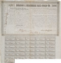 Autographs:Military Figures, Robert E. Lee and Millard Fillmore: Signed Railroad Bond....