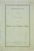 Miscellaneous:Booklets, Highly Desirable Confederate States Articles of War Imprint....