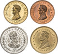 Political:Tokens & Medals, Four Very Scarce Lincoln Memorial Medals with Obverses of Campaign Medals.... (Total: 4 Items)