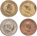 Political:Tokens & Medals, Abraham Lincoln: A Fine Group of Four Early Memorial Pieces.... (Total: 4 Items)