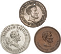 Political:Tokens & Medals, Abraham Lincoln: Three Memorial Medals.... (Total: 3 Items)
