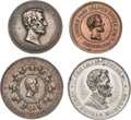 Political:Tokens & Medals, Abraham Lincoln: Four Beautiful Larger Size Memorial Medals.... (Total: 4 Items)