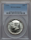 Kennedy Half Dollars, 1966 50C MS66 PCGS. PCGS Population (132/10). NGC Census: (144/2).Mintage: 108,984,928. ...
