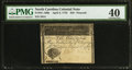 Colonial Notes:North Carolina, North Carolina April 2, 1776 $10 Peacock PMG Extremely Fine 40.....