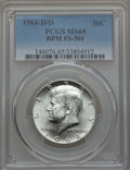 Kennedy Half Dollars, 1964-D/D 50C Repunched Mintmark, FS-501 MS65 PCGS. PCGS Population(30/4). Mintage: 156,205,440....