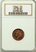 Proof Indian Cents, 1866 1C PR65 Red NGC....