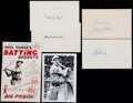 Baseball Collectibles:Others, Baseball Greats Signed Index Cards, etc. Lot of 6....