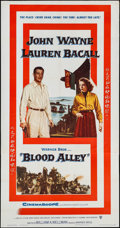 """Movie Posters:Action, Blood Alley (Warner Brothers, 1955). Three Sheet (41"""" X 78.5"""").Action.. ..."""