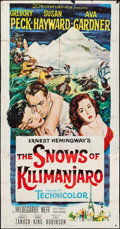 "Movie Posters:Adventure, The Snows of Kilimanjaro & Others Lot (20th Century Fox, 1952).Three Sheets (41"" X 87"") & One Sheet (27"" X 41""). Adventure....(Total: 2 Items)"