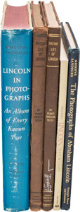Books:Reference & Bibliography, [Abraham Lincoln]: Five Photography Reference Books.... (Total: 5Items)
