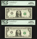 Error Notes:Miscellaneous Errors, Fr. 1932-B $1 2006 Federal Reserve Notes. Ten Consecutive Examples. PCGS Graded. . ... (Total: 10 notes)