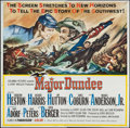 "Movie Posters:Western, Major Dundee (Columbia, 1965). Six Sheet (80"" X 80'""). Western.. ..."