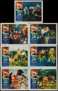 "World Without End (Allied Artists, 1956). Lobby Cards (7) (11"" X 14""). Science Fiction. ... (Total: 7 Items)"