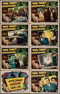 "Dick Tracy Meets Gruesome (RKO, 1947). Lobby Card Set of 8 (11"" X 14""). Crime. ... (Total: 8 Items)"