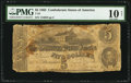 Confederate Notes:1862 Issues, T53 $5 1862 PF-10 Cr. 380.. ...