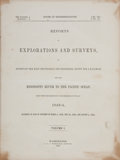 Books:Americana & American History, [Pacific Railroad Survey]. Reports of Explorations and Surveys,to Ascertain the Most Practicable and Economical Route f... (Total:13 Items)