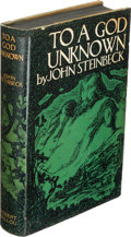Books:Literature 1900-up, John Steinbeck. To a God Unknown. New York: Robert O.Ballou, [1933]. First edition....