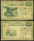 Obsoletes By State:Ohio, Ravenna, OH- Portage County 10¢; 50¢ 1862. ... (Total: 2 notes)