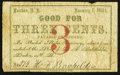 Obsoletes By State:New Hampshire, Loudon, NH- H.F. Batchelder 3¢ Jan. 1, 1864. ...