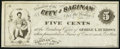 Obsoletes By State:Michigan, Saginaw, MI- City of Saginaw at Banking Office of George L. Burrows 5¢ Nov. 24, 1862 Remainder. ...